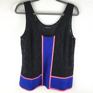 Anthropologie Colorblock Lace Tank